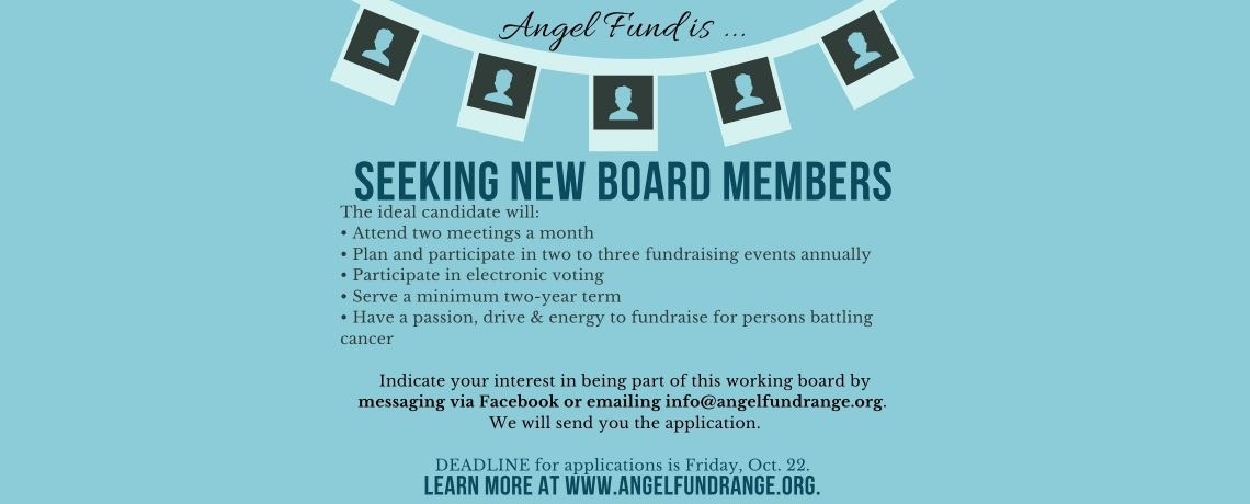 Apply now to be an 'Angel'
